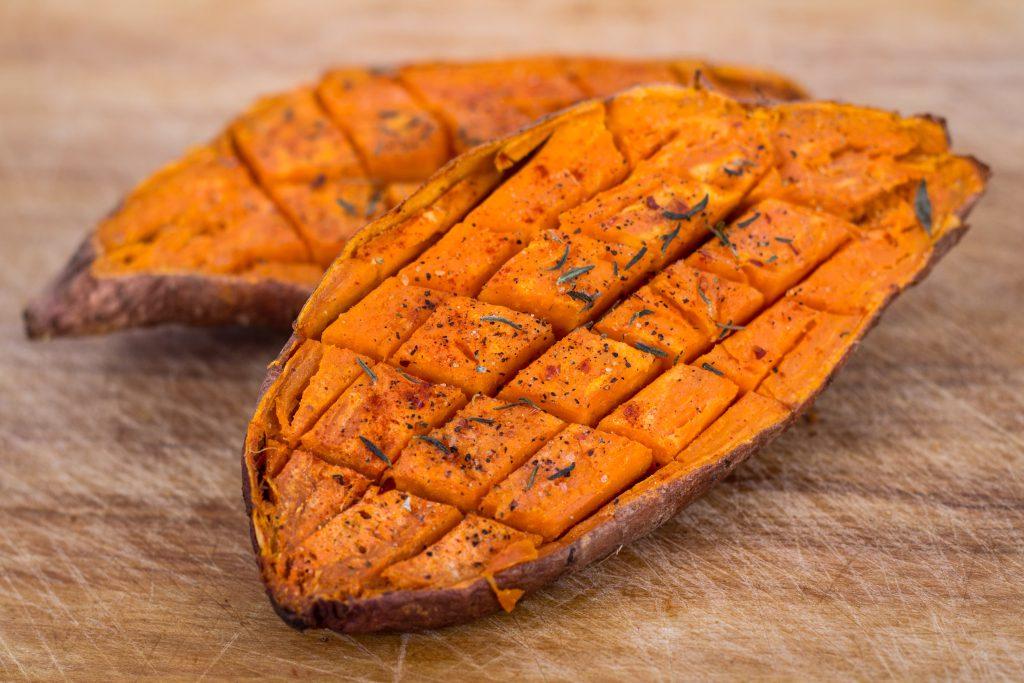 zoete aardappels uit de oven